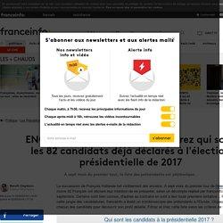 ENQUÊTE FRANCEINFO. Découvrez qui sont les 82 candidats déjà déclarés à l'élection présidentielle de 2017