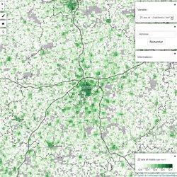 @comeetie : #Francepixels, carte données carroyées