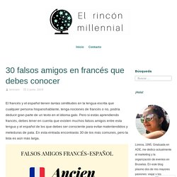 30 falsos amigos en francés que debes conocer – El rincón millennial
