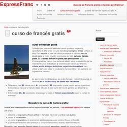 francés gratis,curso gratis de francés,francés online