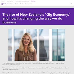 Frances Valintine on the rise of the gig economy
