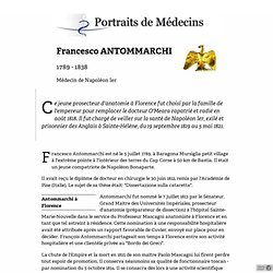 Francesco ANTOMMARCHI 1789-1838