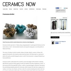 Ceramics Now - Contemporary ceramics magazine
