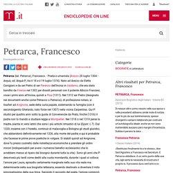 Petrarca, Francesco nell'Enciclopedia Treccani