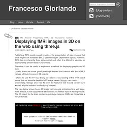 Displaying fMRI images in 3D on the web using three.js