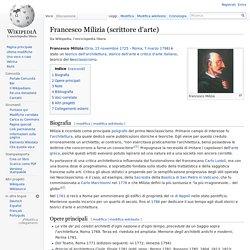 Francesco Milizia (scrittore d'arte)