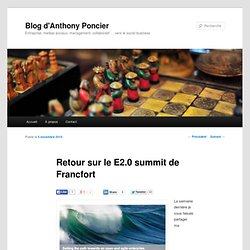 Retour sur le E2.0 summit de Francfort