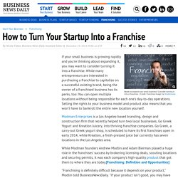 How to Franchise Your Small Business
