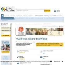 Franchise Age d'or services dans Franchise Services aux personnes âgées et dépendantes