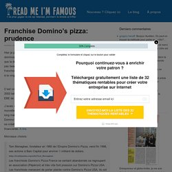 Franchise Domino's pizza: prudence