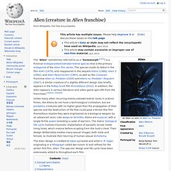 Alien (creature in Alien franchise)