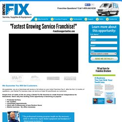 Ranked Fastest Growing Service Franchise