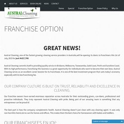 Cleaning Franchise Opportunities - Austral Cleaning