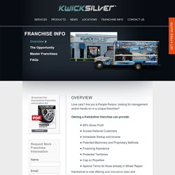 Franchise Info Overview - Kwicksilver USA