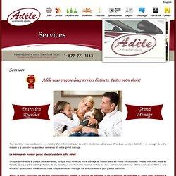 Adèle, franchise d'entretien ménager résidentiel au Québec!