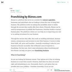 Franchising by Biznox.com – Medium