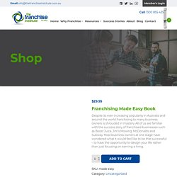 Franchising Made Easy Book