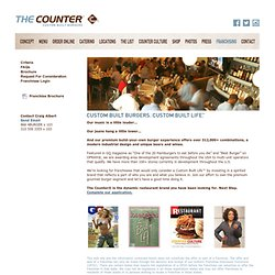 The Counter : Gourmet Burger : Franchising Opportunities