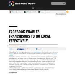 Facebook Enables Franchisors To Go Local Effectively
