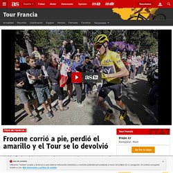 Froome corrió a pie, perdió el amarillo y el Tour se lo devolvió