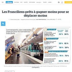 Les Franciliens prêts à gagner moins pour se déplacer moins