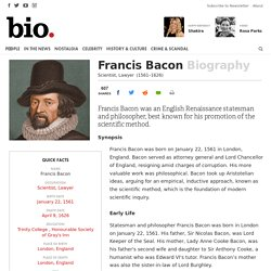 Francis Bacon - Scientist, Lawyer