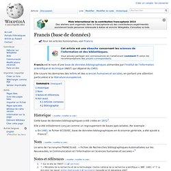 Francis (base de données)