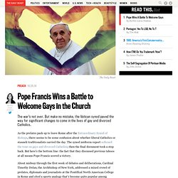 Pope Francis Wins a Battle to Welcome Gays in the Church