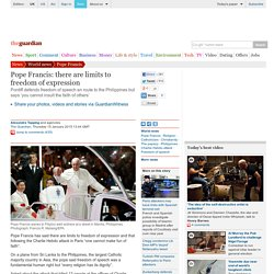Pope Francis: there are limits to freedom of expression