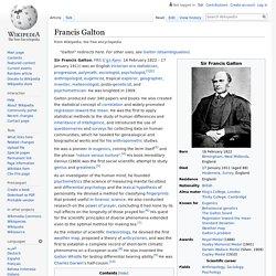 Francis Galton - Wikipedia