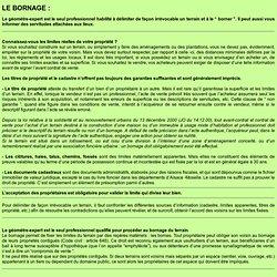 Bornage - Géomètre-Expert (Francis GAUCHOTTE)