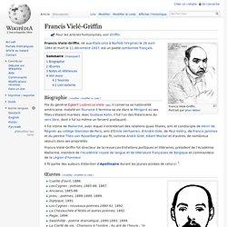 Francis Vielé-Griffin