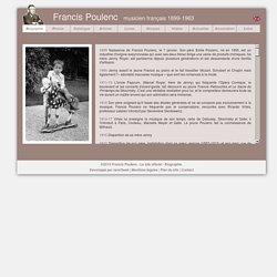 Francis Poulenc - Le site officiel – Biographie