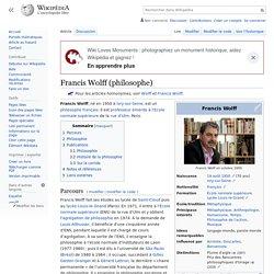 Francis Wolff (philosophe)