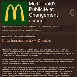 III. La francisation de McDonald's - Mc Donald's : Publicité et Changement d'image