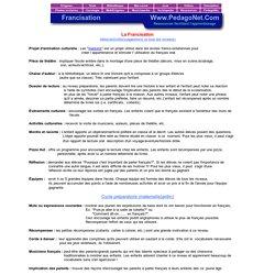 La Francisation - Idées/activités/suggestions