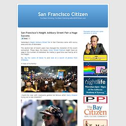 San Francisco's Haight Ashbury Street Fair a Huge Success « San Francisco Citizen