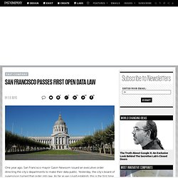 San Francisco Passes First Open Data Law