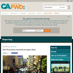 San Francisco commits to open data | California Forward