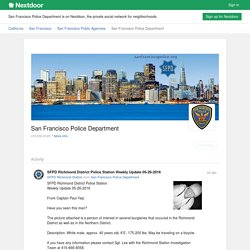 San Francisco Police Department - 124 Crime and Safety updates