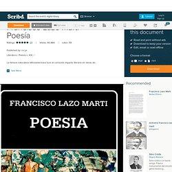 Francisco Lazo Martí - Poesía