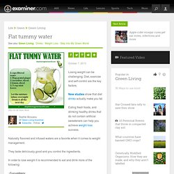 Flat tummy water - San Francisco Green Living