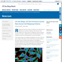UC San Diego, UC San Francisco Launch New Cancer Cell Mapping Initiative