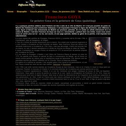 Goya - Francisco Goya : le peintre et la peinture de Goya (painting)