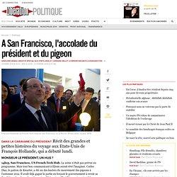 A San Francisco, l'accolade du président et du pigeon