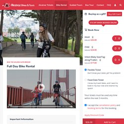 Alcatraz Bikes & Tours offers Rental Bike San Francisco