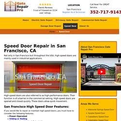 High Speed Door Repair San Francisco