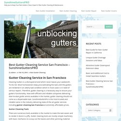 SanFrancisco Gutter Cleaning By SunshineGuttersPRO