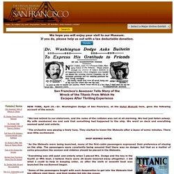 R.M.S. Titanic San Francisco Survivors Describe Awful Scene 1912