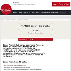FRANCK César - biographie